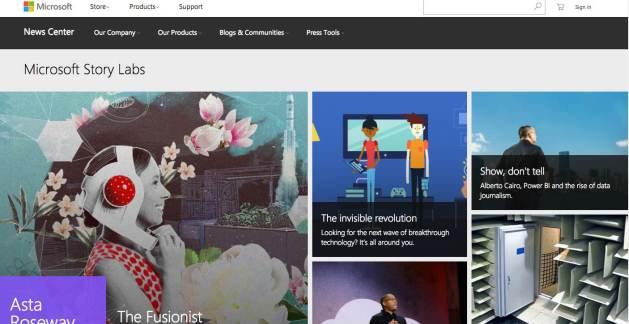 Microsoft story lab