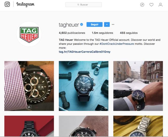 Perfil de negocio en instagram