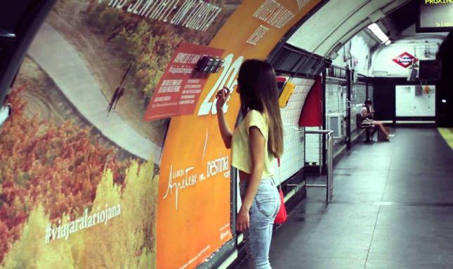Campaña destinia.com y La Rioja Metro Madrid