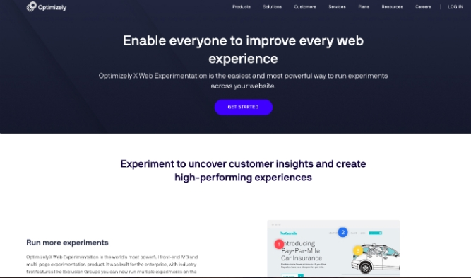 herramientas landing page ejemplo optimizely
